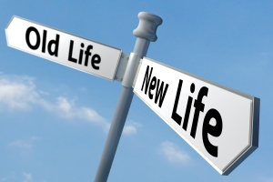 a sign post of changing to a new way of life